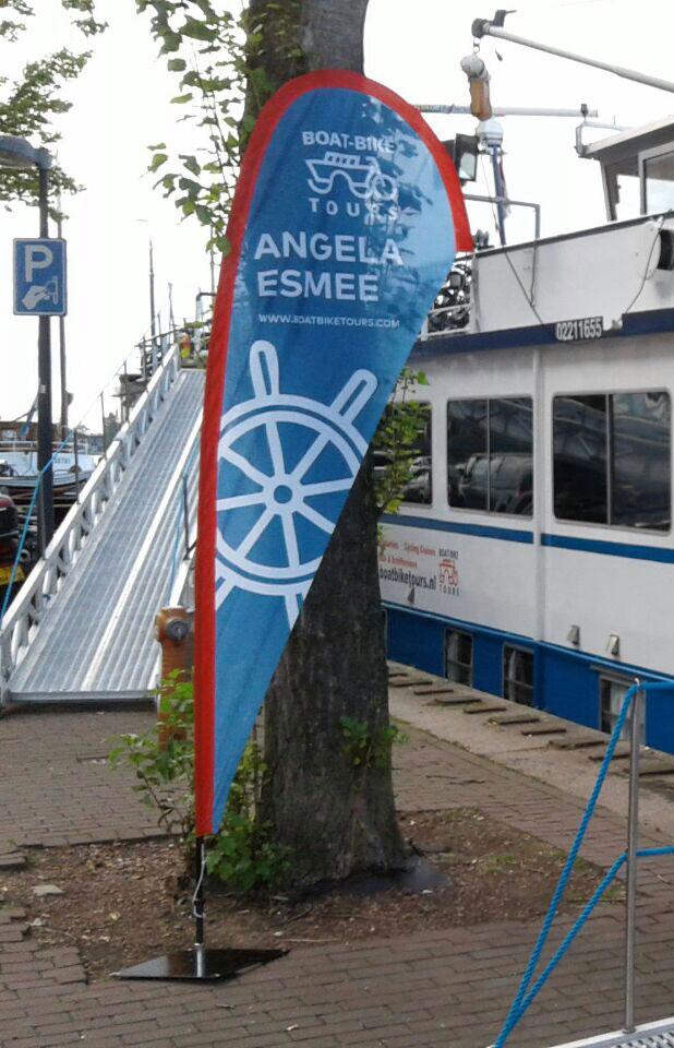 Beachflag Dropflag Boat Bike Tours - Angela Esmee